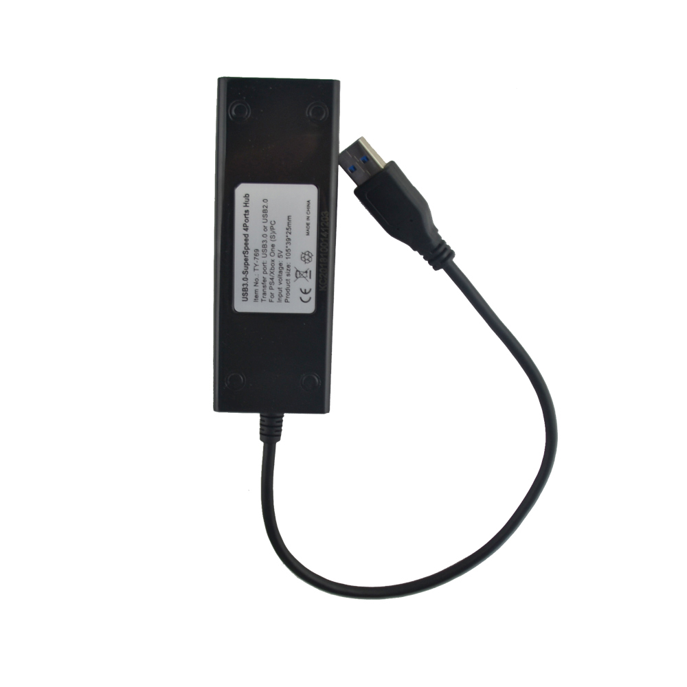 100pcs <font><b>Usb</b></font> 3.0 SuperSpeed 4 Ports <font><b>Hub</b></font> <font><b>USB</b></font> Splitter 3.0 Adapter For x-b-o-x one <font><b>slim</b></font> for <font><b>PS4</b></font> <font><b>slim</b></font> PRO image