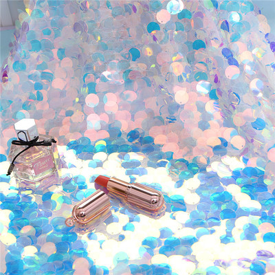 Multi Color Iridescent Paillette Sequin Fabric Available By The Yard 50 Wide