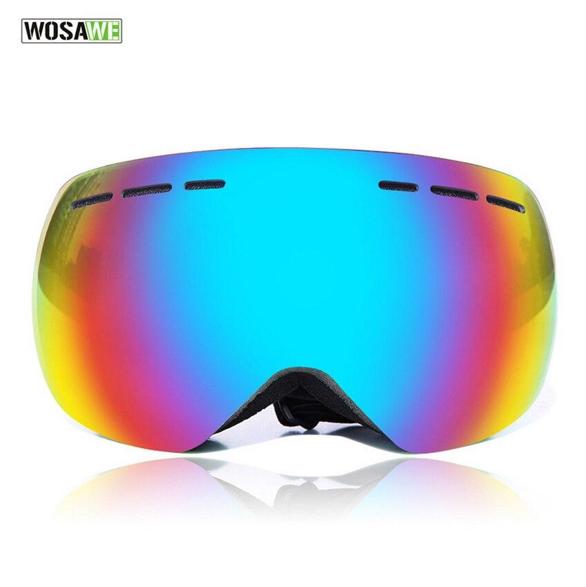 WOSAWE lunettes de Ski extérieur Double Anti-buée grand masque de Ski lunettes Ski hommes femmes neige Snowboard lunettes