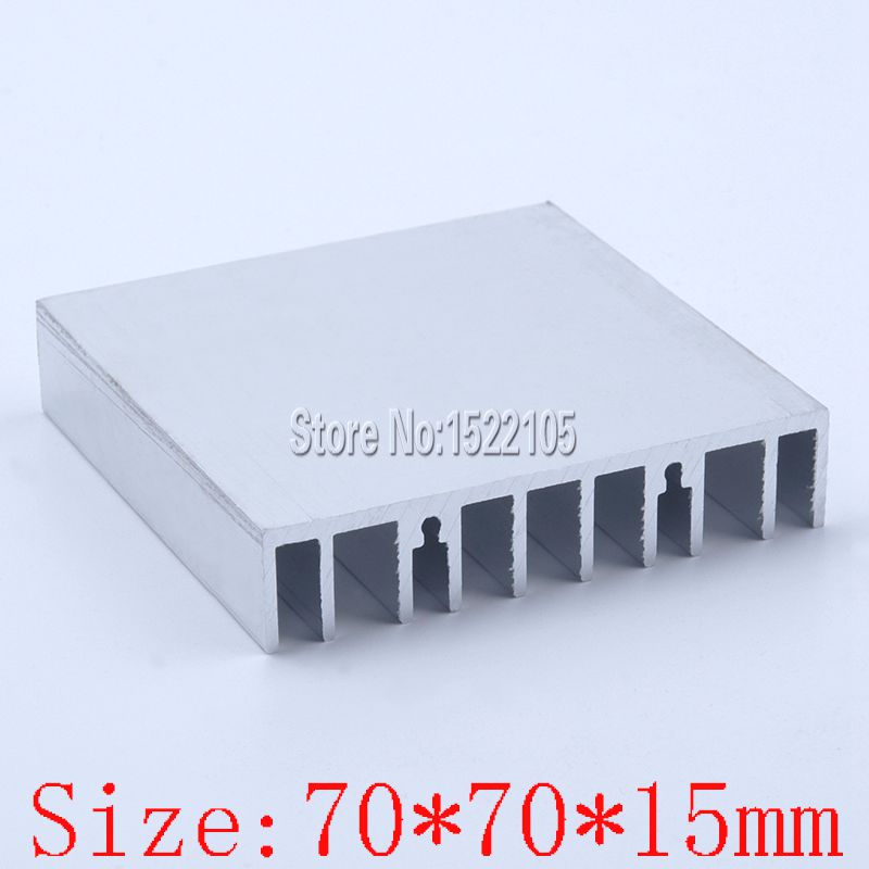 Heatsink 70x70x15mm Aluminum heatsink heat sink Hardware radiator for Electronic cooling 1 pcs aluminum radiator heat sink heatsink 60mm x 60mm x 10mm black