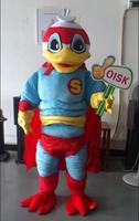 OISK Пользовательские Супер утка герой Маскоты костюм Плюшевые мультфильма костюмы наряды Хэллоуин Рождество нарядное платье