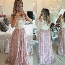 Brasilien Einzelhandel Spitze Perle Prom Kleider Vestidos De Festa Bodenlangen Langes Abendkleid Party-elegante Schnelles Verschiffen 2015