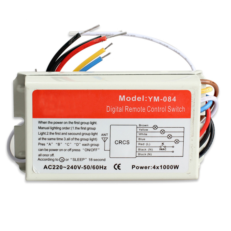 Image 3 - DIY 1/2/3/4 Ways ON/OFF 220V Wireless Remote Control Switch Digital Remote Control Switch for Lamp & Light   M25-in Switches from Lights & Lighting
