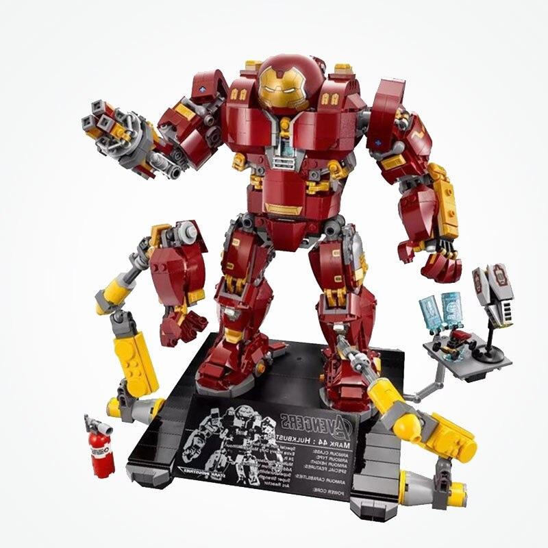 Marvel Super Heroes Hulkbuster Mech Ultron edycja znak Iron Mana zestaw bloki bloki Avengers zabawki w Klocki od Zabawki i hobby na  Grupa 1