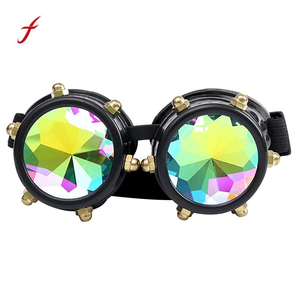 59a0415a129ad Caleidoscópio Colorido Óculos Rave Festival Partido óculos de Sol Lente  Difratado EDM em Óculos de sol de Acessórios de vestuário no AliExpress.com  ...