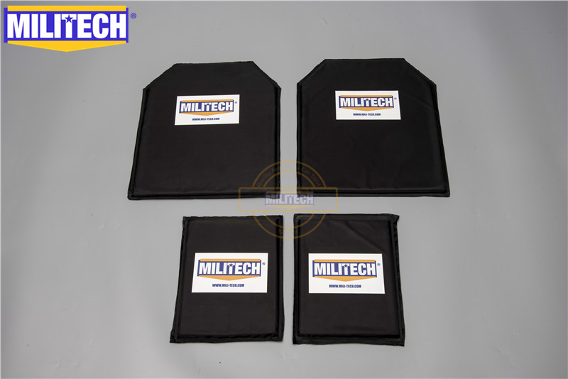 MILITECH 10 x 12 & 6 x 8 Par Set Aramid Ballistic Panel Bullet Proof Plate Inserts Body Armor Soft Armor NIJ Level IIIA 3A