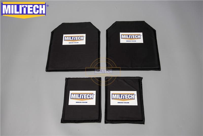 MILITECH 10 X 12 & 6 X 8 Pairs Set Aramid Ballistic Panel Bullet Proof Plate Inserts Body Armor Soft Armour NIJ Level IIIA 3A