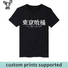 KPOP Tokyo Ghoul Anime Kaneki Ken Long T-shirt Men Hip Hop Short Sleeve T Shirts and Mens TShirts Summer Punk Band Tee Custom