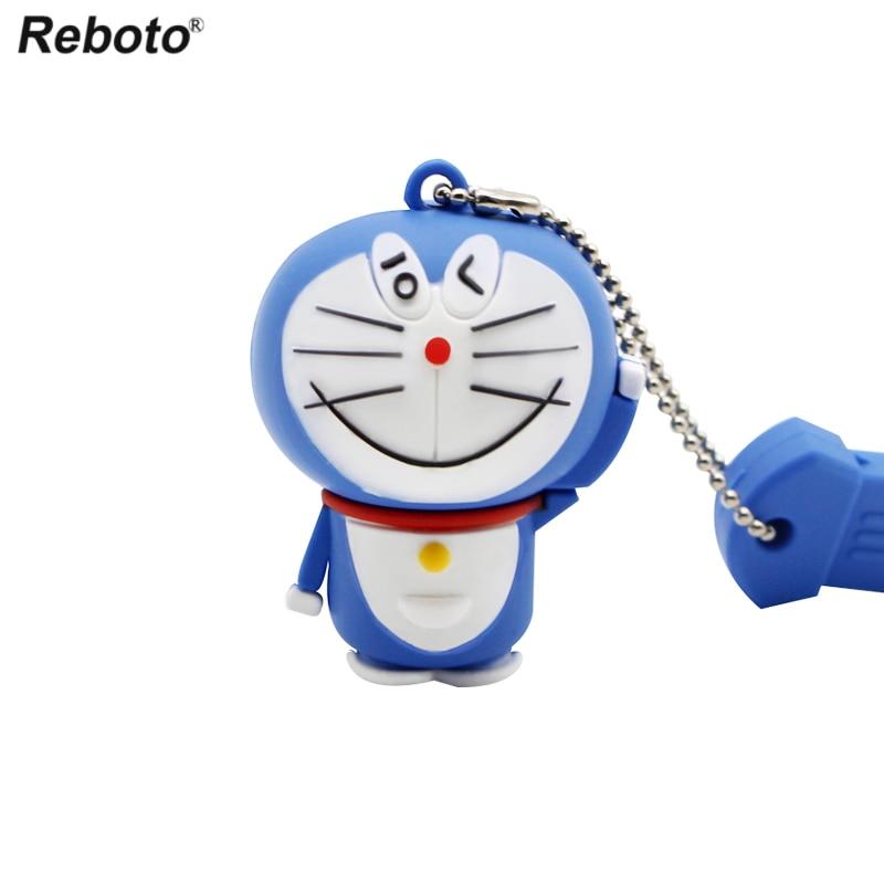 Image 3 - Cartoon USB 2.0 Doraemon USB Flash Drive 64GB Cat Memory Stick 32GB Pen Drive 16GB Pendrive 8GB USB Disk 4GB Thumb Drive-in USB Flash Drives from Computer & Office