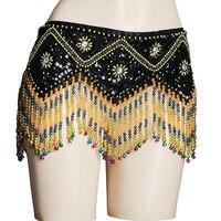 חגורת ריקודי בטן ניו paillettes היפ חגורת חגורות שרשרת מותניים ריקודי בטן שבטיות בגדי ריקודי בטן ציצית חרוזים סקסי 9013