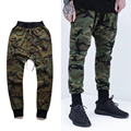 Cool Men Camouflage Trousers Men's Casual Pants Beam High Street Hip hop Kanye West Justin Bieber Season3 Harem Pants