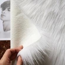 Качественный 9 см длинный мех кролика искусственный мех ткань мягкий плюш искусственный мех Ткань швейный материал Diy Украшение дома Ткань Мех