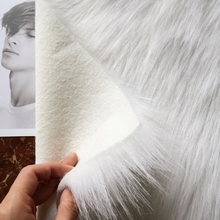Jakości 9cm długie futro królik tkanina sztuczne futro miękki pluszowy tkanina sztuczne futro materiał do szycia dekoracje dla domu diy tkaniny futra tanie tanio Tkane Szczotkowane 100 akryl Brocade fabric Anty-pilling Modakryl tkaniny Amenmo