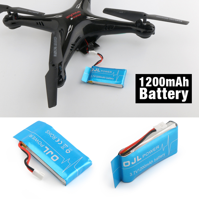 Syma X5SW X5SC RC Quadcopter Spare Parts Battery Ultra-high Capacity 3.7V 1200mAh Lipo Battery and 5in1 Cable and Charger