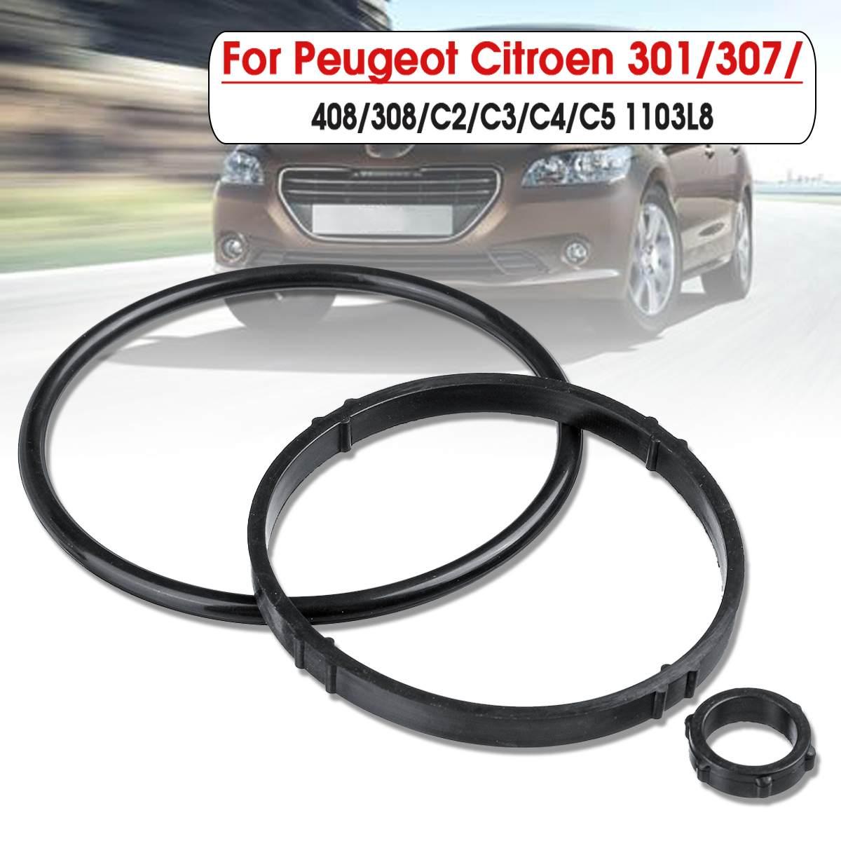 Car Oil Filter Gasket Seals 1103L8 Oil Filter Housing Gasket Kit Black For Peugeot/Citroen 301 307 408 308 C2 C3 C4 C5