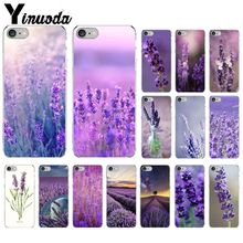 Yinuoda Simple lavender Purple flowers Soft Silicone Phone Case Cover for Apple iPhone 8 7 6 6S Plus X XS MAX 5 5S SE XR Cover yinuoda animals dogs dachshund soft tpu phone case for apple iphone 8 7 6 6s plus x xs max 5 5s se xr mobile cover