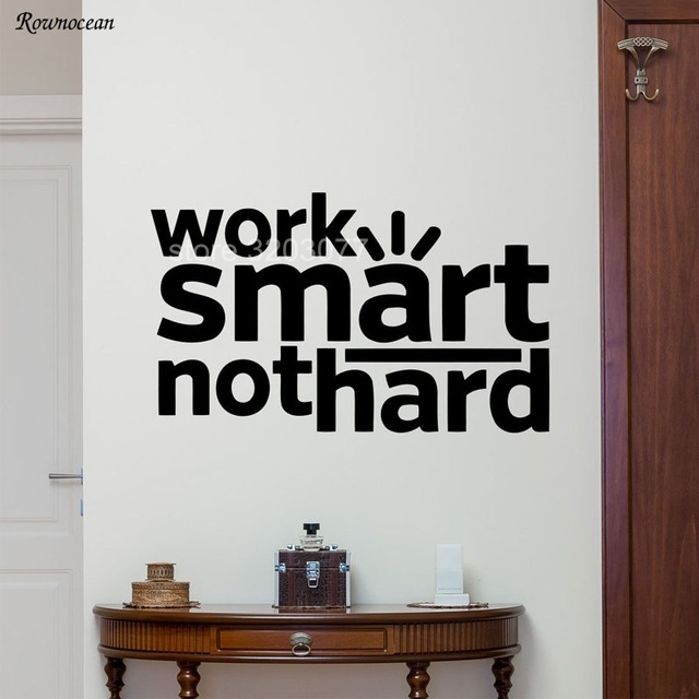 inspiration art quotes work smart not hard office wall decal
