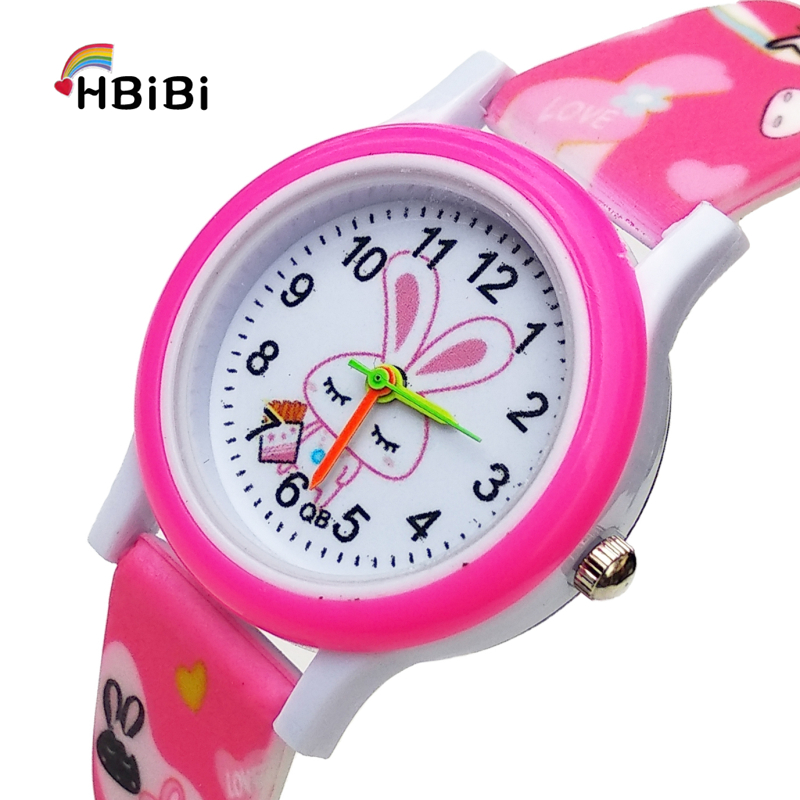 Newest products Printed strap Childrens watch Cute Rabbit Watches Kids Boys Girls Clock Gift Child Casual Quartz Wrist Watch