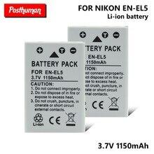 Batteries de remplacement EN-EL5 EN EL5, pour Nikon Coolpix 3700 4200 5200 5900 7900 1150mAh P5100 P6000 P80 P90 P100 P500