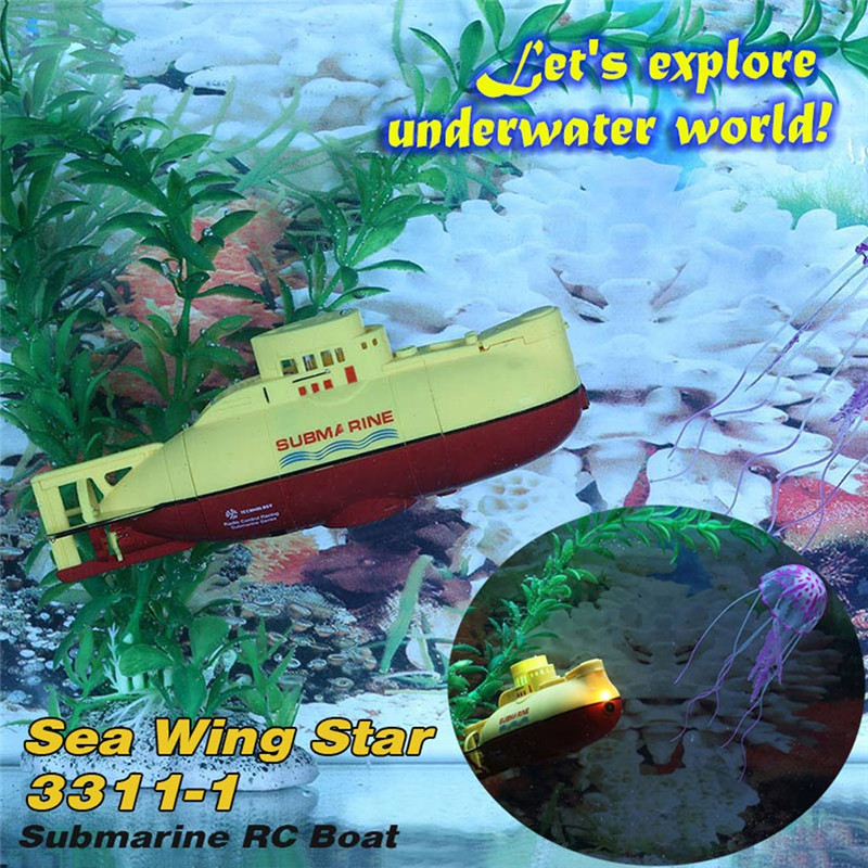 Yellow Sea Wing Star 27MHz Radio Controlled RC Submarine Tourism Boat Electric Powered Racing Boat Waterproof RC Toy