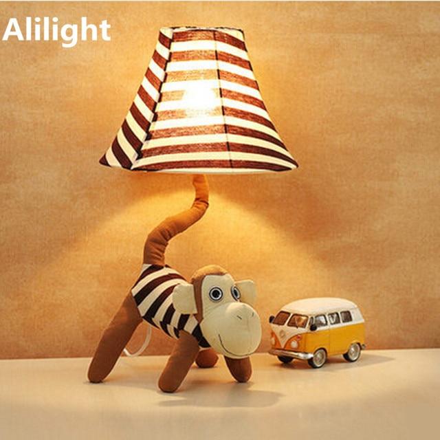 Lovely LED E27 Creative Monkey Dimmable Table Lamp Desk Light Bedside Lamp  For Children Kids Baby
