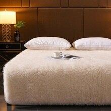 مرتبة من الكشمير 100% سميكة من نسيج التاتامي المخملي المرجاني ناعمة ودافئة للغاية من الصوف وسادة سرير شتوي لفندق مهجع