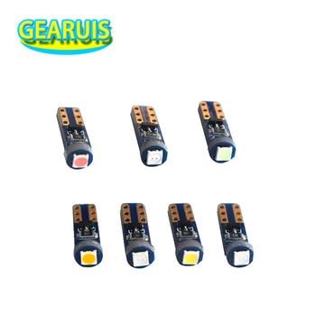10pcs T5 W3W 3030 1 SMD LED Non polar 37 73 74 Wedge Instrument Panel Speedometer Tacho Gauge Cluster Lamp Dash LED Bulbs Light