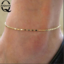 Fine Sexy Anklet Ankle Bracelet Cheville Barefoot Sandals Foot Jewelry Leg Chain On Foot Pulsera Tobillo For Women Halhal cheap Fashion Anklets TRENDY geometric A005 Zinc Alloy ASQUEEN Q Metal 20cm~22cm+5cm Anniversary Engagement Gift Party Wedding