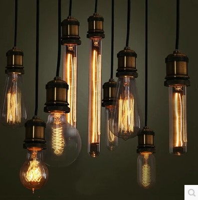 Retro Loft Style Industrial Lighting Pendant Lights Fixtures with Edison Bulbs,Vintage Pendant lamp Lampara Colgante De Techo
