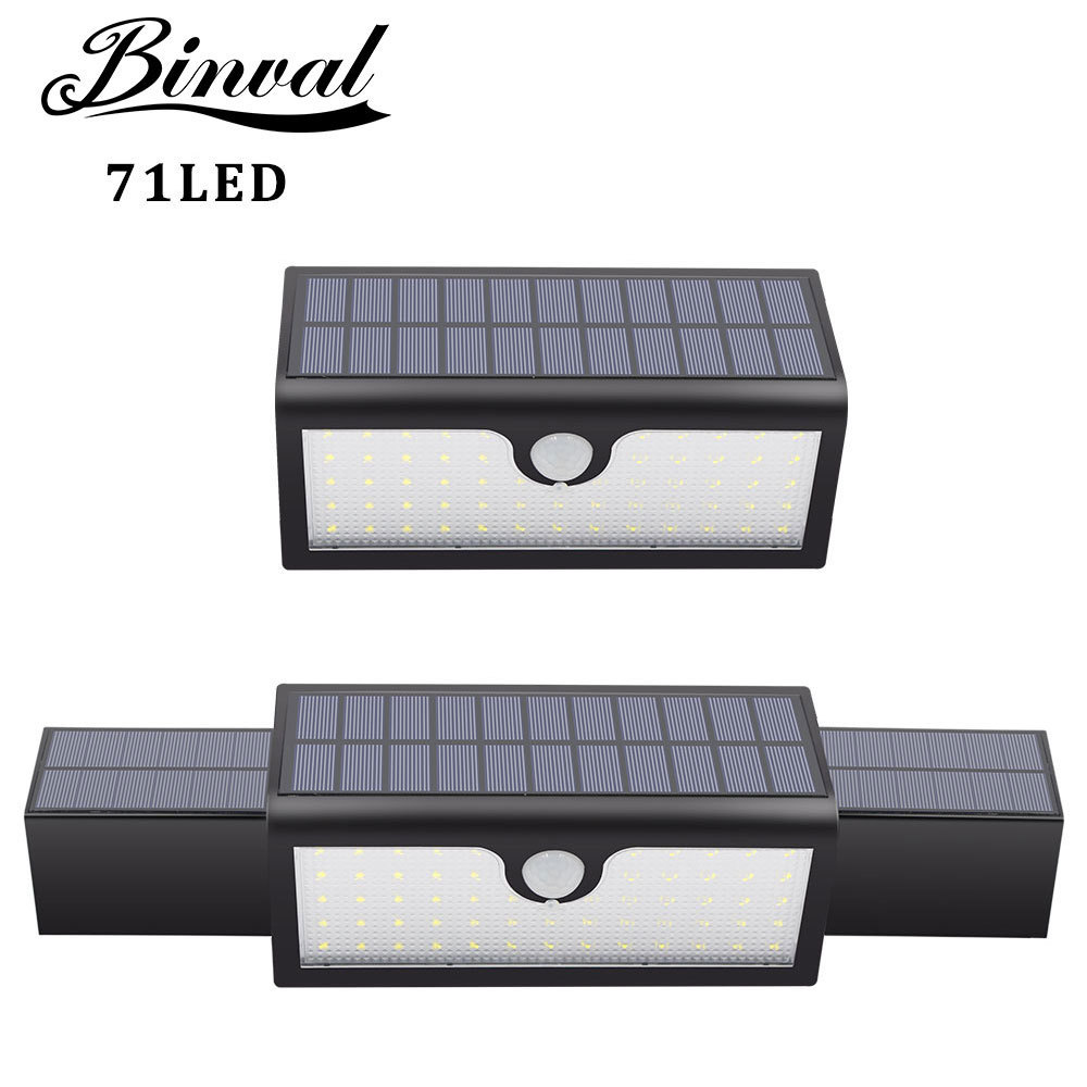 Solar Lights Super Bright 71LED 3-in-1 Motion Sensor Solar Powered Lights Outdoor Waterproof Wall Path Light Home Security Lamp