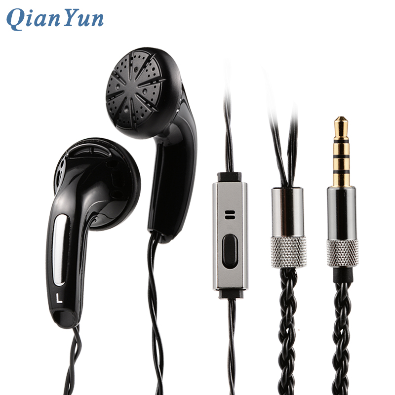 Original QianYun Qian25 Earphone Flat Head Plug Earplugs Monk Earphones With Microphone HIFI Headsets For Xiaomi iPhone 5s/6/6s радиоприемник 25 hifi 25w
