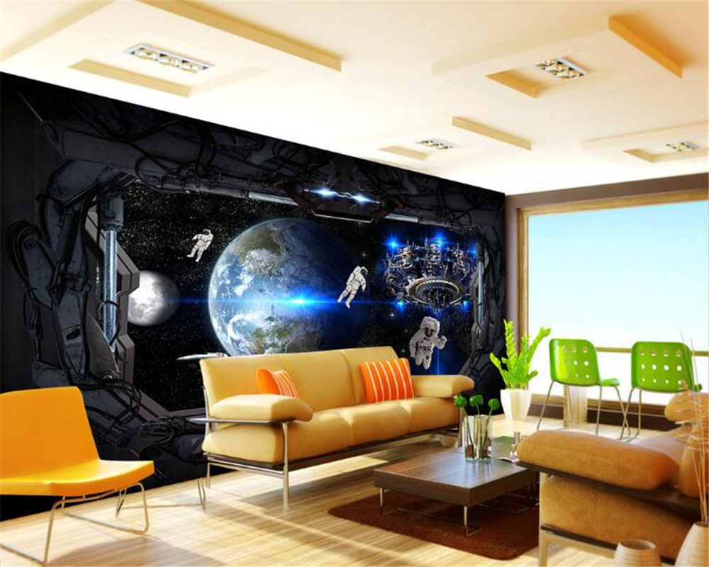 beibehang papel de parede 3D fashion aesthetic space window bedroom living room background wall wallpaper for walls 3 d tapety