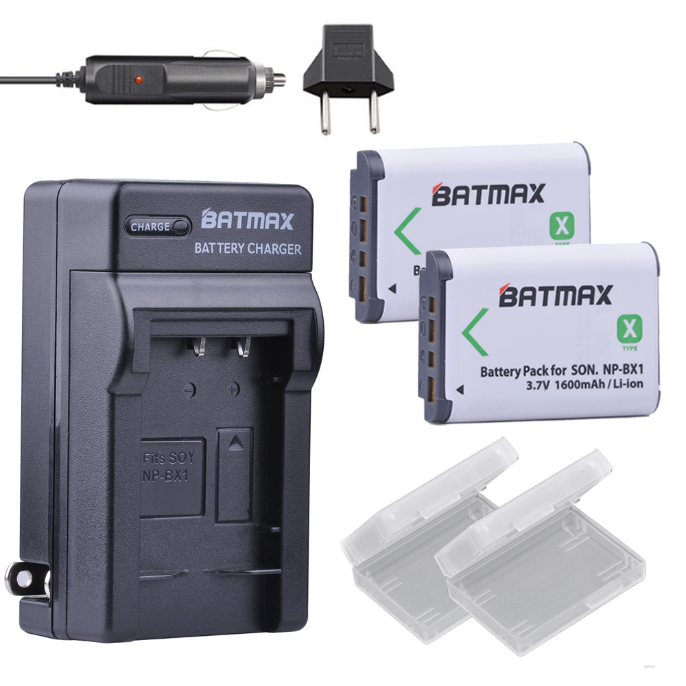 2Pc 1600mAh NP-BX1 NP BX1 Battery + AC Charger Kit for SONY DSC RX1 RX100 RX100iii M3 M2 RX1R WX300 HX300 HX400 HX50 HX60 GWP88 np bx1 replacement 3 6v 1240mah li ion battery for sony sony rx100 rx1 camera white