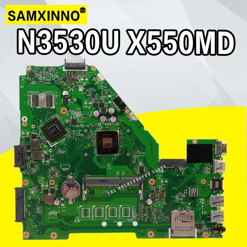 N3540 CPU X550MD GT820M 2GB mainboard X550MD REV 2.0 for ASUS X550M X552M Y582M X550MD X550MJ Motherboard 100% test OkN3540 CPU X550MD GT820M 2GB mainboard X550MD REV 2.0 for ASUS X550M X552M Y582M X550MD X550MJ Motherboard 100% test Ok