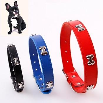 Bone Leather Durable Pet Dog Collar