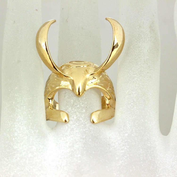 Filme Os Vingadores Anéis Punk anel Thor The Dark World Loki Capacete Ajustável Para Homens & Mulheres presente Figura de Ação cosplay Brinquedos