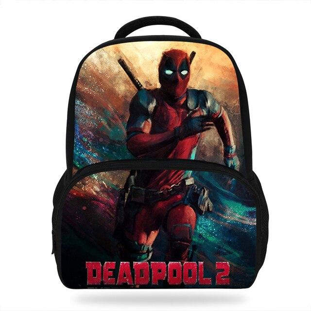 14inch Fashion Marvel Avengers Deadpool Bags For School Boys Backpack Gift  Girls Unisex Superheros Students Shoulder Travel Bag 9d144f5e7628e
