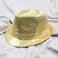 Ребенок дети мальчик девочка взрослая Cap блесток Hat крышка джаза топ топпер популярные шляпа плоские