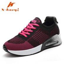 Купить с кэшбэком NKAVQI Women Fashion Sneakers Breathable Air Mesh Ladies Increased Shoes Comfortable Flat Shoes Women Zapatos De Mujer