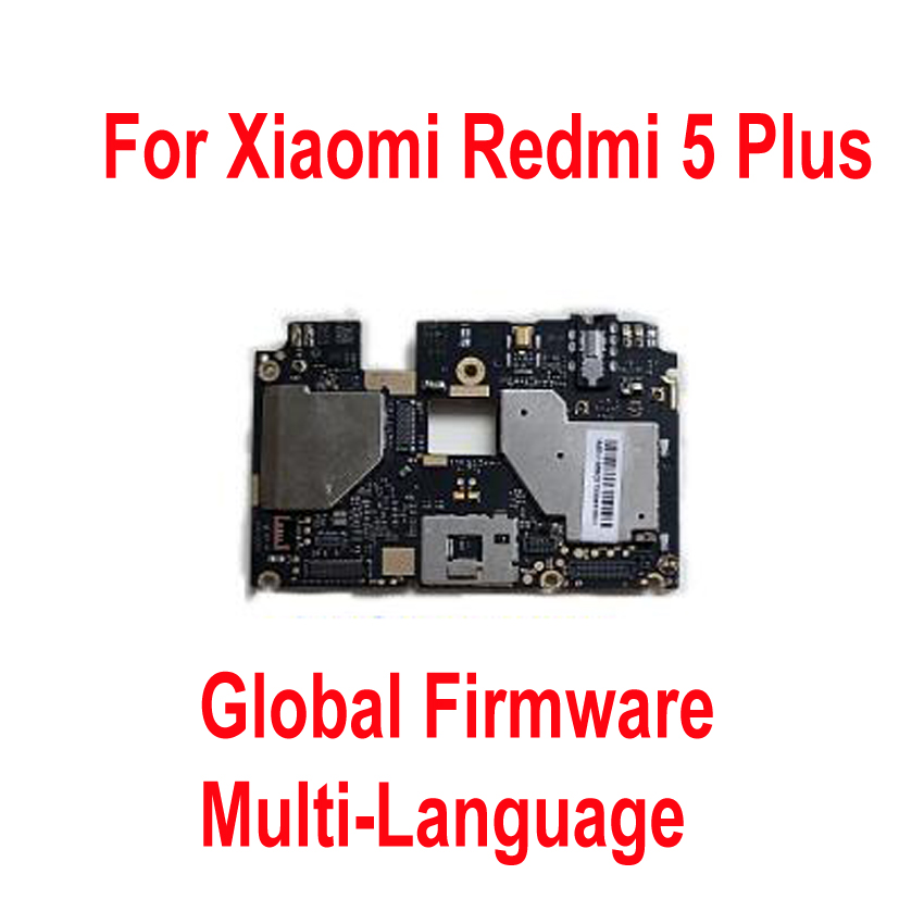 Global FirmWare Original Test Working Unlock Mainboard For Xiaomi Hongmi 5Plus Redmi 5 Plus Motherboard Circuit