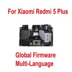 Firmware global teste original de trabalho desbloquear mainboard para xiaomi hongmi 5 plus redmi 5 plus placa-mãe taxa circuito cabo flexível