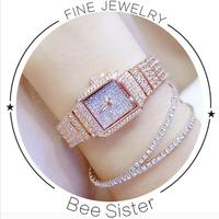 2017 New Women Watch Rhinestone Watches Lady Diamond Stone Dress Watch Stainless Steel Bracelet Wristwatch Ladies