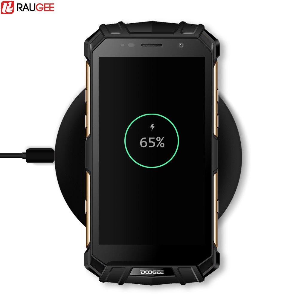 Raugee 10 Watt Schnelle Drahtlose Lade Doogee S60 Qi Wireless Charging Pad für iPhone 8/X Samsung Galaxy S8 Hinweis 8 Rand Plus Ladegerät