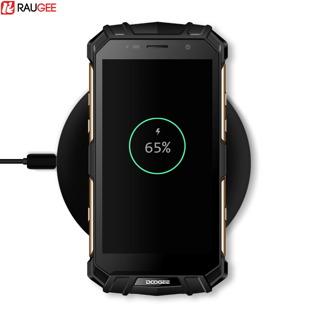 Raugee 10W Fast Wireless Charge Doogee S60 Qi Wireless Charging Pad For iPhone 8/X Samsung Galaxy S8 Note 8 Edge Plus Charger