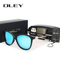 OLEY Fashion polarized sunglasses women Brand Designer Glasses HD Lens flower luxury Vintage Shades Female Goggle Eyewear Y257