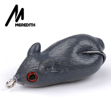 MEREDITH 8.2g 4.5cm Fishing Frog Mouse Lures Soft Baits For Snakehead Bass Lures Frog Fishing Floating Topwater