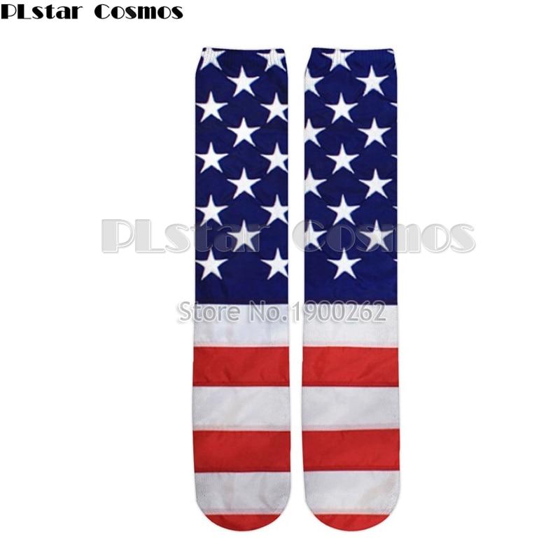 Plstar Cosmos American style new 3D socks Funny 3D High Socks Men Women high quality harajuku fashion thick socks