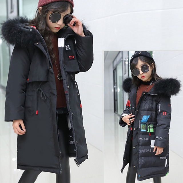Special Price -30 Degree Winter Children's Down Parka Jacket 2018 New Warm double-sided Snowsuit Winter Coat for Kids Girls Clothes 10 12 year
