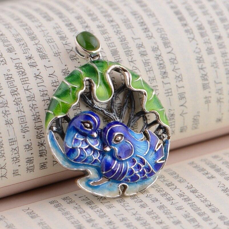 Cerf roi bijoux en gros S925 pendentif en argent Sterling Shaolan exquis unique cadeau Yuanyang