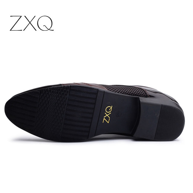 Men Dress Shoes Plus Size 38-47 Men Business Flat Shoes Black Brown Breathable Low